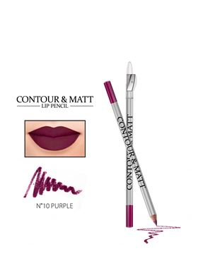 Contour & Matt Lip Pencil 10 Purple