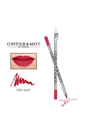 Contour & Matte Lip Pencil 05 Ruby