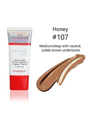 Phoera Cosmetics Velvet Liquid Matte Foundation Honey 107 (30ml)