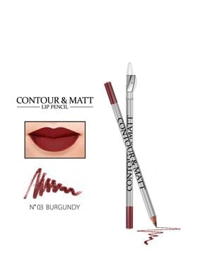 Contour & Matte Lip Pencil 03 Burgundy