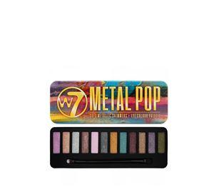 Beauty Basket - W7 Metal Pop Soft Metallic Shimmers Eye Colour Palette