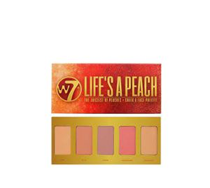 Beauty Basket - W7 Life's A Peach Face And Cheek Palette