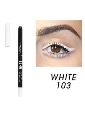 Phoera Cosmetics Eyeliner Gel Pencil White 103