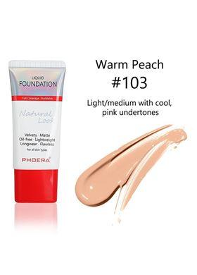 Phoera Cosmetics Velvet Liquid Matte Foundation Warm Peach 103 (30ml)