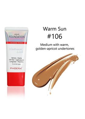Phoera Cosmetics Velvet Liquid Matte Foundation Warm Sun 106 (30ml)