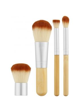 Tools for Beauty Mini Brush Set Bamboo 4pcs