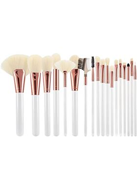 T4B MIMO Makeup Brushes Rose Golden White Ecru Set 18 Pcs