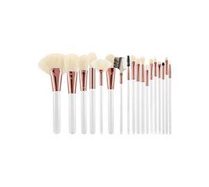 Beauty Basket - T4B MIMO Makeup Brushes Rose Golden White Ecru Set 18 Pcs