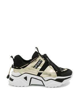Γυναικεία Sneakers με κορδόνια MIGATO σε μαύρο χρώμα