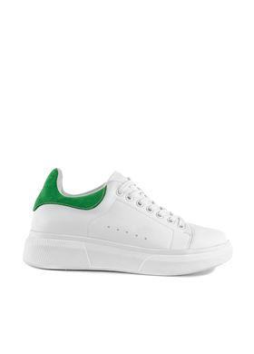 Γυναικεία Λευκά Sneakers με κορδόνια MIGATO