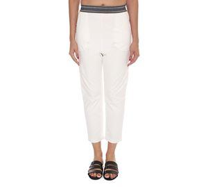 Woman Bazaar - Λευκό Παντελόνι UP CLOTHING woman bazaar   γυναικεία παντελόνια