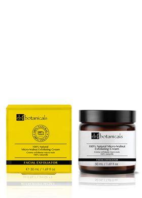 100% Natural Micro-Walnut Exfoliating Cream Κρέμα Απολέπισης Προσώπου Dr Botanicals 50 ml