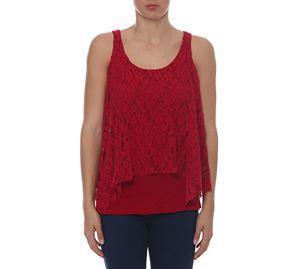 Woman Bazaar Vol.2 - Κόκκινη Αμάνικη Μπλούζα UP CLOTHING woman bazaar vol 2   γυναικείες μπλούζες