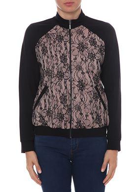 Μαύρο Σακάκι UP CLOTHING με Δαντέλα
