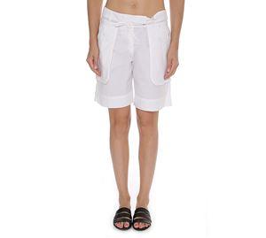 Branded Clothing - Γυναικεία Λευκή Βερμούδα HENRY COTTONS