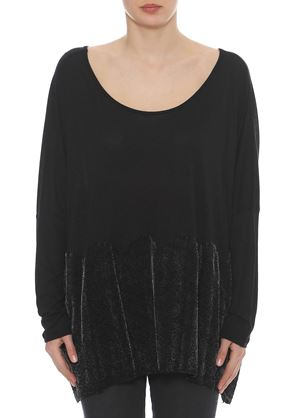 Outlet - Μαύρη Γυναικεία Μπλούζα LYNNE