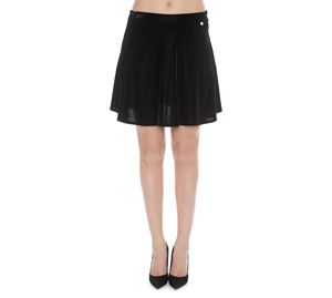Lynne Vol.4 - Μαύρη Μίνι Βελούδινη Φούστα LYNNE