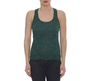 Lynne Vol.5 - Πράσινη Μπλούζα LYNNE με Δαντέλα