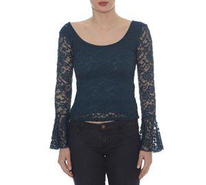 Lynne Vol.5 - Μακρυμάνικη Μπλούζα LYNNE με Δαντέλα
