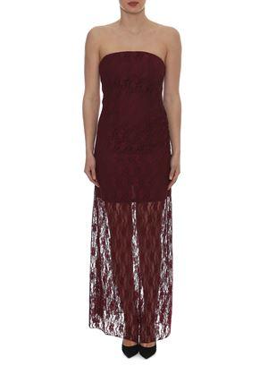 Outlet - Κόκκινο Στράπλες Φόρεμα LYNNE