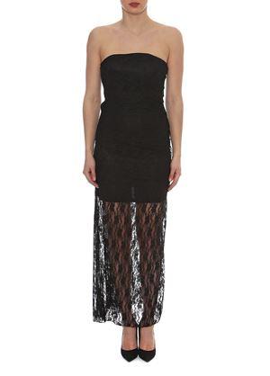 Outlet - Μαύρο Στράπλες Φόρεμα LYNNE