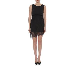 Lynne Vol.5 - Μαύρο Μίνι Αμάνικο Φόρεμα LYNNE