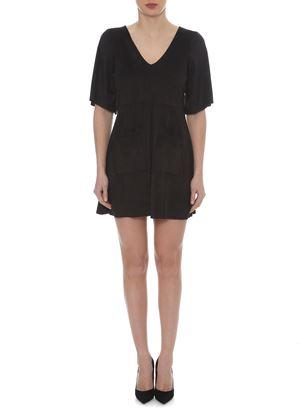 Outlet - Μαύρο Suede Φόρεμα LYNNE