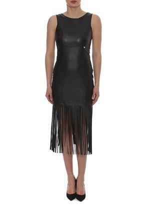 Outlet - Μαύρο Μίνι Στενό Φόρεμα LYNNE