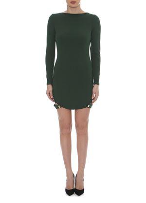 Outlet - Πράσινο Μακρυμάνικο Μίνι Φόρεμα LYNNE